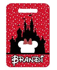DISNEY CASTLE MINNIE BAG TAG Personalized Luggage Backpacks Tag 2 Sides printed