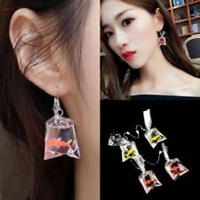 Cute Cartoon Resin Goldfish Imitation Water Bag Shape Fashion Charms Earrings