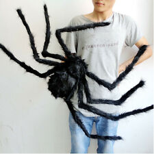 Halloween Prop Scary Scream Giant Spider Big Hairy Araneid Spider Web Decoration