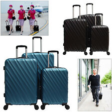 """28""""24""""20"""" Luggage Travel Set Spinner Suitcase ABS Trolley Hardshell Lightweight"""