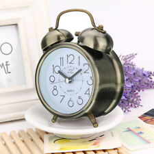 Traditional Alarm Clock Silent Double Bell Snooze Table Desk Bedside Movement