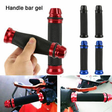 RUBBER GEL HANDLEBAR 7/8 HAND GRIPS HANDLE BARS FOR MOTORCYCLE SPORTS BIKE BLACK
