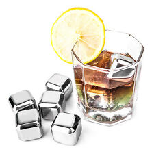 Reusable Stainless Steel Chilling Quick Frozen Ice Cubes With Silicone Case