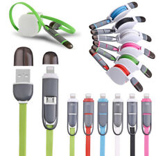 Retractable Micro USB Lightning Charging Data Sync Cable Cord For iPhone Samsung