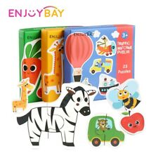 Children Matching Puzzle Game Toy Wooden Large Piece Educational Jigsaw Toy Gift