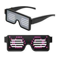 Colorful LED Light UP Flashing Blink Glow Glasses Cartoon For Party Prom Props