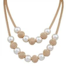 Pearl necklace collier femme collares statement Multilayer choker statement