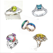 Fashion Women Finger Ring  Round 925 Silver Plated Dance Party  Boho Jewelry