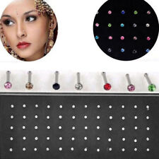 24/40/60x Surgical Steel Nose Stud Rings Studs Body Piercing Jewelry Fashion
