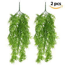 2pcs Artificial Hanging Vines Plant Ivy Greenery Faux Plants Wall Home Art Decor