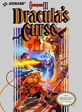 Retro Castlevania 3: Dracula's Curse Game Poster//NES Game Poster//Video Game Po