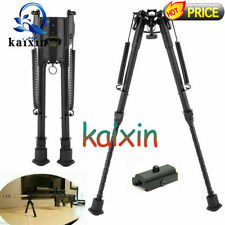 "6""-9"" 9''-13'' Spring Return Sniper Hunting Rifle Bipod + Rail Mount Adapter"