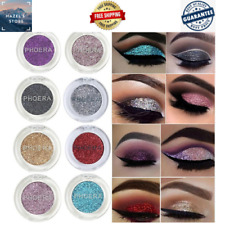 PHOERA Eye Glitter Makeup Pigment 8 Colors Lasting Shadow Make Up festival