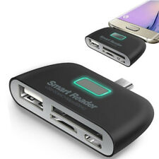 4 in 1 OTG/TF/SD Smart Type-C Card Reader Adapter Micro USB Charge Ports-c