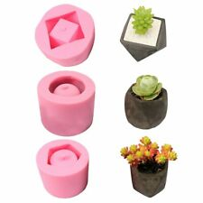 ORIGINAL 3D Concrete Planter Succulent Plant Cement Silicone Mold DIY Clay Craft