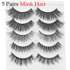 Wispy Fluffy Natural Long  Eye Lashes Extension 3D Mink Hair False Eyelashes