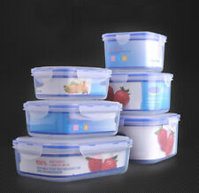 3 Pieces Set Kitchen Storage Boxes Plastic Food Storage Containers with Lids