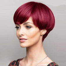 Red Wigs Pixie Cut Wigs For Women Synthetic Short  Wavy Hair  Burgundy Wig