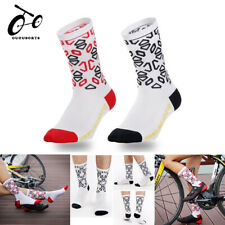Women Men Cycling Socks Breathable Bike Bicycle Hiking Sports Running Calf Socks