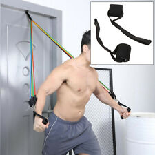 HN- BL_ Home Sports Fitness Elastic Exercise Strap Resistance Band Door Anchor R