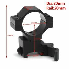 """30mm / 25.4mm 1"""" Ring Quick Release Scope Mount Adapter 20mm Rail Weaver"""