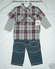 BOYS - 3-PIECE OUTFIT - JEANS & 2 SHIRTS - TODDLER - SZ 2T - 3T or 4T– NWT $42