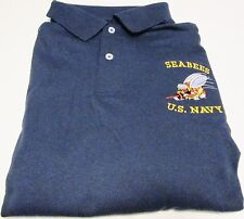 "U.S.NAVY ""SEABEES LOGO""POLO SHIRT EMBROIDERED"