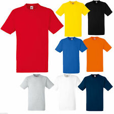 3  FRUIT OF THE LOOM HEAVY 100% COTTON T SHIRT S - XXL