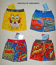 SWIM TRUNKS – BOYS - SPONGEBOB – SPIDERMAN - CARS - INFANT SIZE 12 MO – NWT