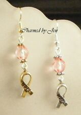 BREAST CANCER Awareness Earrings w/ HOPE Charms