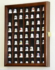 59 thimble miniature display case cabinet wall rack box