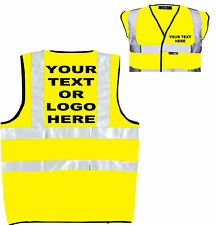 PERSONALISED (TATTOOED) HI VIZ HIGH VIS VEST WAISTCOAT