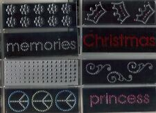 MAMBI Rhinestone Icons/Words 3 D STICKERS Many Choices