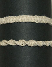 "10"" Creme Flat or Twisted Braided Hemp Anklet Bracelet"