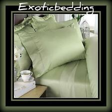 1000 Thread Egyptian Cotton sheet Set - Green Plain