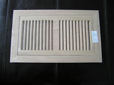 Flush mount oak grill, wood floor register vent. 6x12