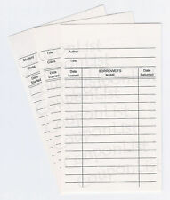 100 Library Loan Checkout Classroom Class Book Cards