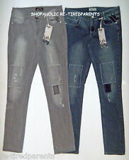 l.e.i. - SKINNY JEANS – LOW RISE - DISTRESSED & FADED - JR SIZES 1 to 9 - NWT$20