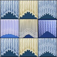 CHOICE OF 4 FLORAL JARDINIERE NET CURTAINS