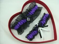 FREE SHIP New Sexy Purple White Black Wedding Garter