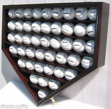 46 MLB Baseball Display Case Holder Wall Cabinet, Lock, UV Protection : B46