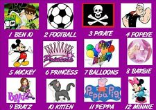 Loot bag X16 FAKE TATTOOS name PERSONALISED boys girls party Peppa Pig pirate et