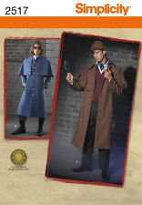 SIMPLICITY 2517 Victorian Sherlock Steampunk Coat & Hat Costume Sewing Pattern