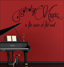 LARGE BEDROOM QUOTE SOUL MUSIC GIANT WALL ART STICKER GRAPHIC DECAL MATT VINYL