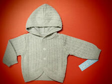 New Baby Boy 100% Cotton Sweater Hooded Cardigan CK29102(0-9m) Ship by Air