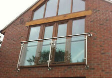 Stainless Steel / Chrome Finish Glass Juliet / Juliette Balcony. 'Elegance'