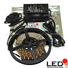 Dimmable Flexible 300 LED Lighting Strip With Transformer + Dimmer, Many Colors
