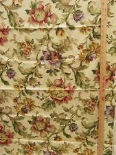 Mill Creek Embossed Fabric Floral Design on Cream Red Green Gold Purple