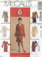 McCall's 4653 MISSES'/MISS PETITE UNLINED JACKETS AND SKIRTS