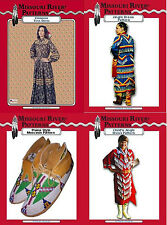Patterns,Womens & Childrens Clothing, Moccasin & Accessory Pattern,Reenactment
